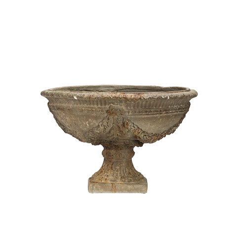 Heavily Distressed Large Cement Grey Magnesia Planter (Each one will vary)