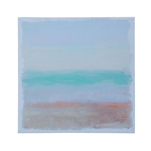 Watercolor Beach Landscape Canvas Wall Decor