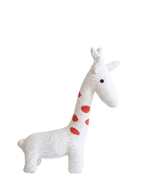 Cream Cotton Knit Giraffe