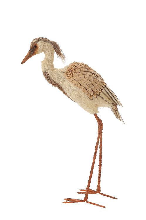 Handmade Brown Grass & Sisal Egret