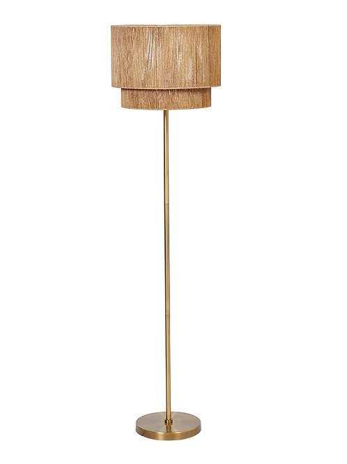 Metal Floor Lamp with Paper String Shade