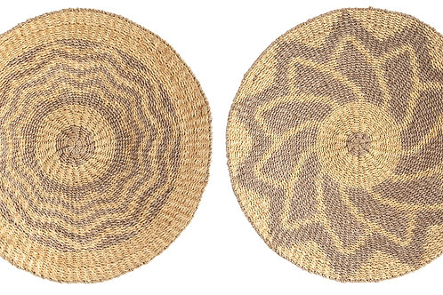 Round Abaca Basket Wall Decor (Set of 2 Styles)