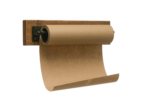 "12""W Paper Roll on Wood & Metal Wall Bracket"
