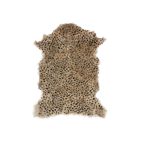 2' x 3' Leopard Print Goat Fur Rug