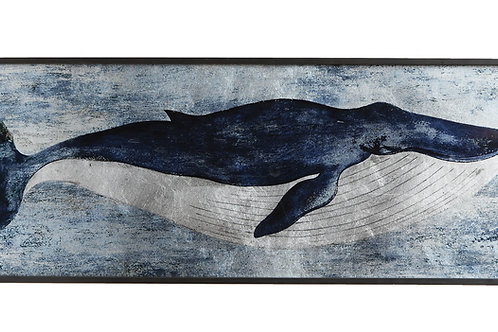 Blue Whale Wood Wall Decor