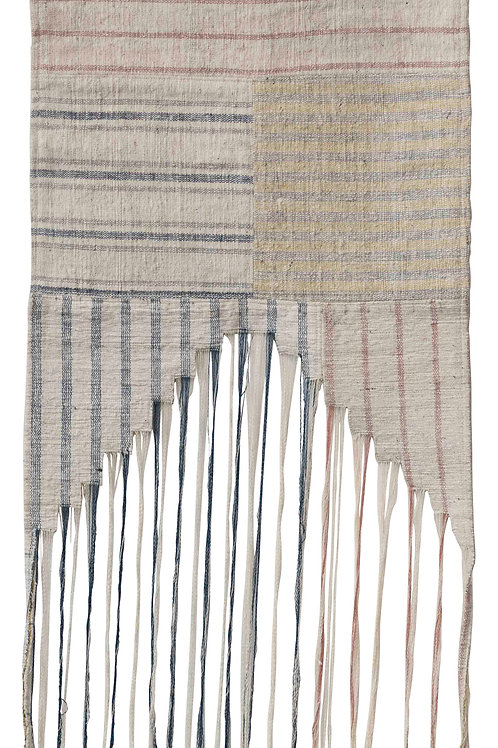 """50""""H Woven Cotton Striped Wall Hanging with Fringe"""