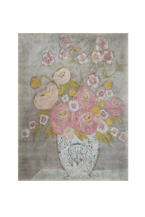 Decorator Paper with Flowers in Vase