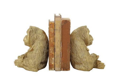 Gold Resin Orangutan Bookends (Set of 2 Pieces)