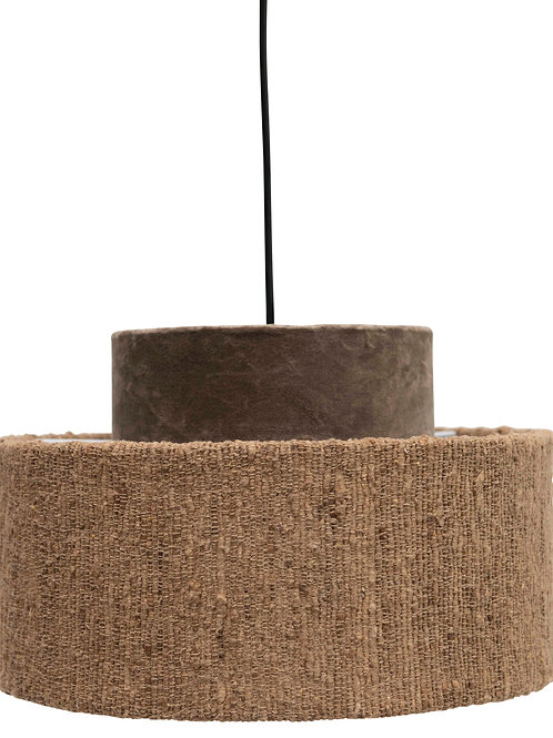 Cotton Velvet & Boucle Pendant Light with 6' Cord (Hardwire Only)