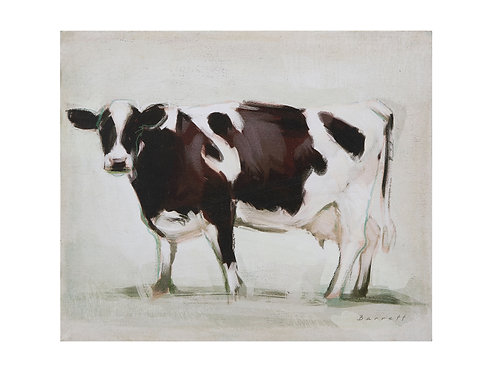 Standing Cow Canvas Wall Decor