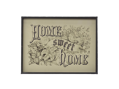 "15.75""W ""Home Sweet Home"" Metal Framed Wall Decor"