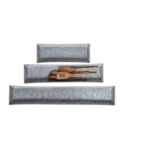 Decorative Rectangle Metal Trays (Set of 3 Sizes)