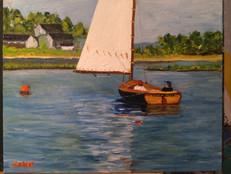 Cat Boat Sailor