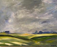 Sunlit farmland