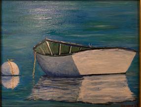 Row Boat Reflections