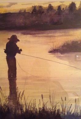 Flyfishing at Dusk