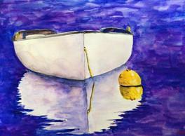 Dory on Purple Water