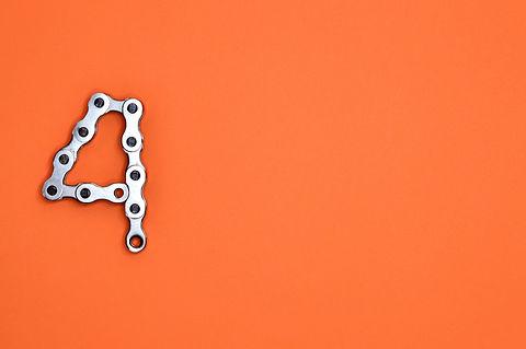 illustration-of-gray-metal-chain-in-4-di