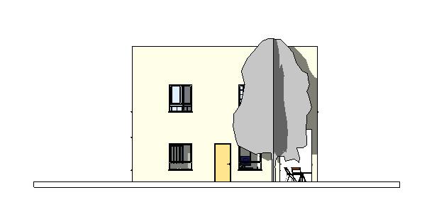 מבט חזית בניין