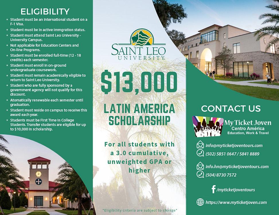 Latin America Scholarship - Saint Leo Un