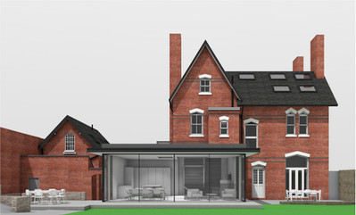 CONTEMPORARY DESIGN APPROVED IN CONSERVATION AREA