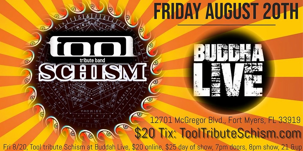 Tool tribute band Schism at Buddha Live in Ft. Myers FL 8/20