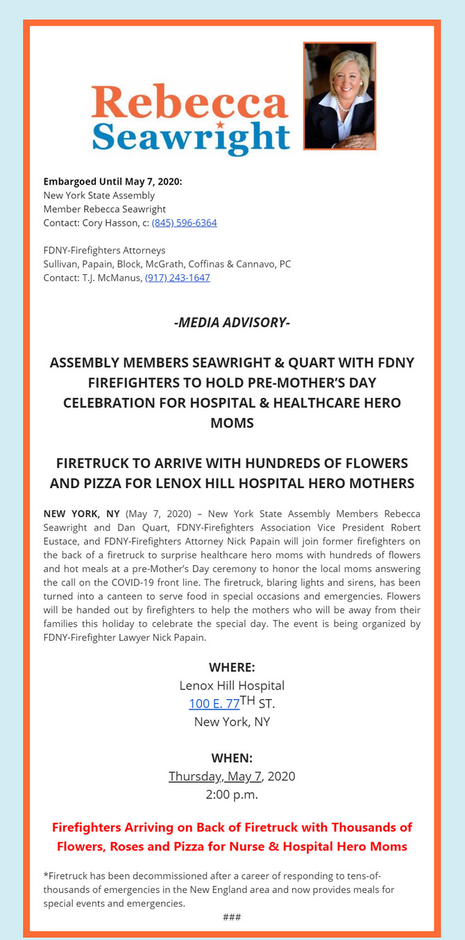 Message From Assembly Members Seawright & Quart