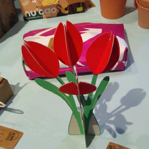 Postkarte Cut and Make - Tulpe