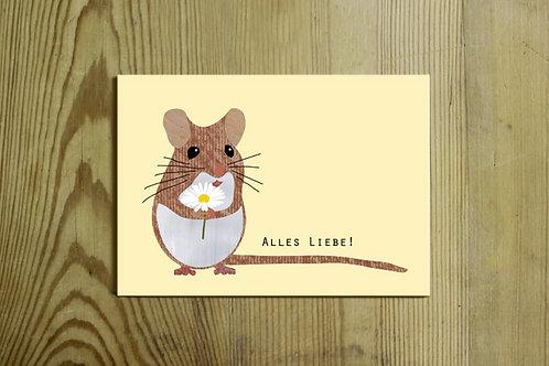 Postkarte Nr. 0029 - Alles Liebe!
