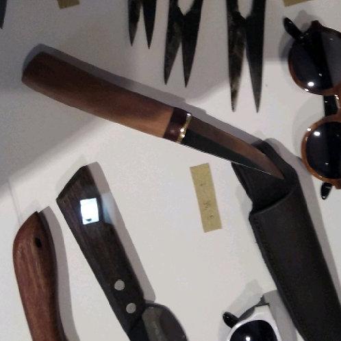 Messer 7 mit Lederhülle
