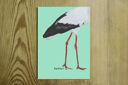 Postkarte Nr. 0026 - Hurra!