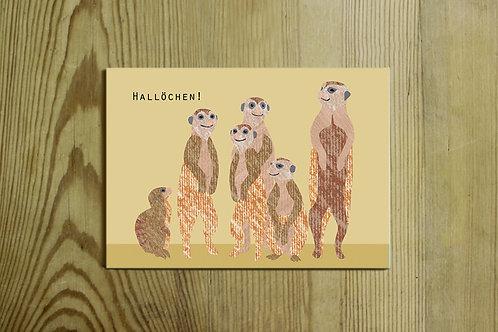 Postkarte Nr. 0072 - Hallöchen!