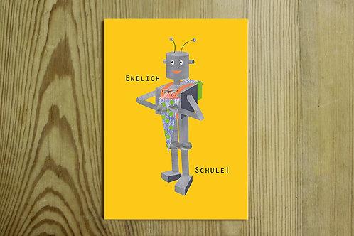 Postkarte Nr. 0071 - Endlich Schule!