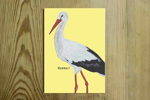 Postkarte Nr. 0027 - Hurra!