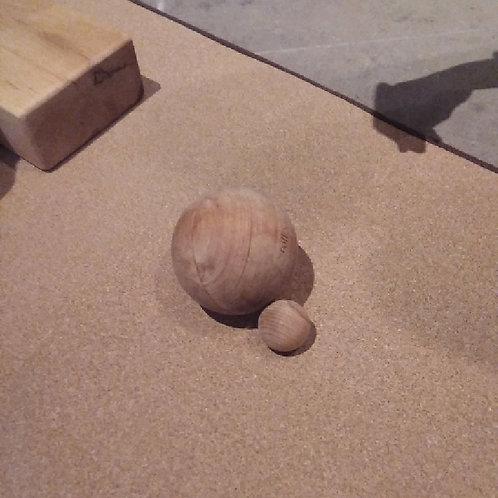 rollholz Kugel 10cm Erle