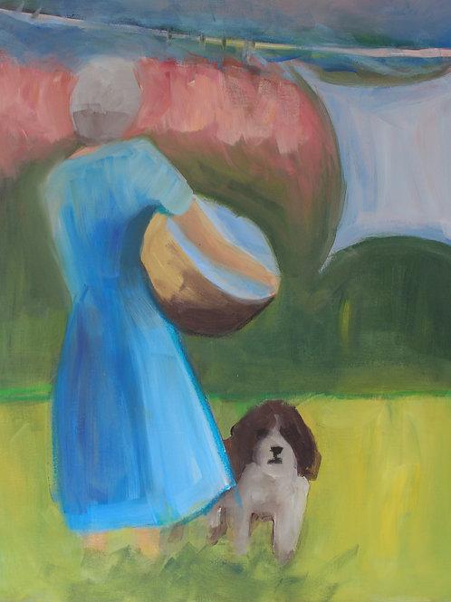 My Companion - 30x24 - Acrylic on Canvas