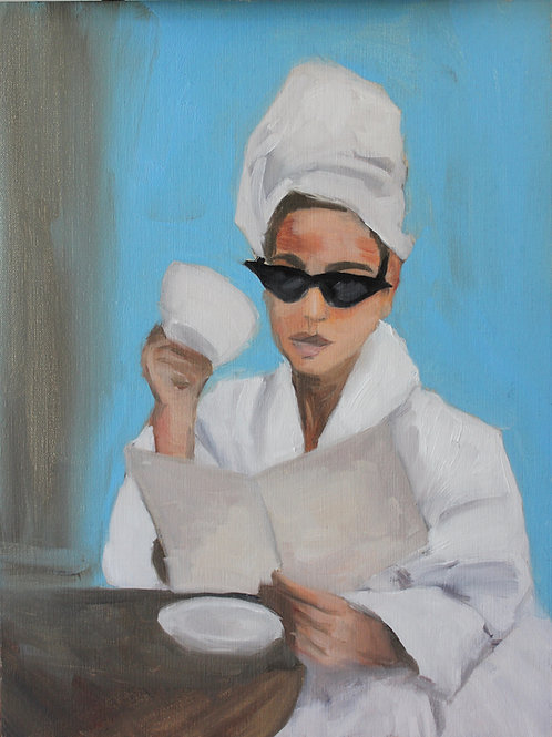 Spa Day - 16x12 - Oil on Canvas Board