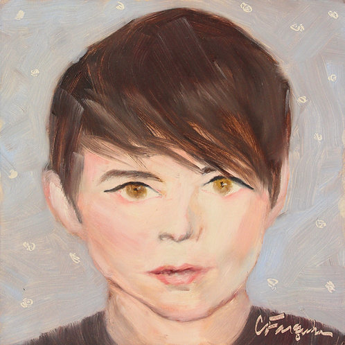The Pixie - 6x6 - Oil on Canvas Board