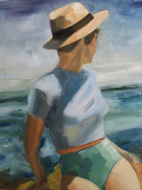 Enjoying The View - 20x16 - Oil On Canvas