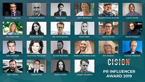 Karin Bäcklund nominerad till PR Influencer Awards