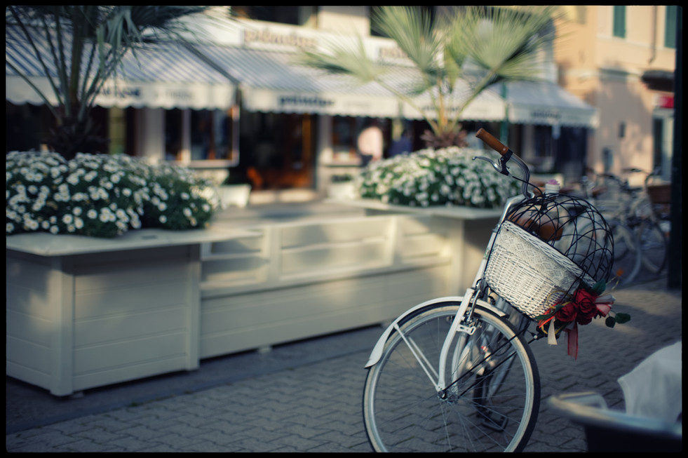 """""""And all the beautiful children of the beautiful people. Bicycles drifting silently along the promenade at sunset."""""""