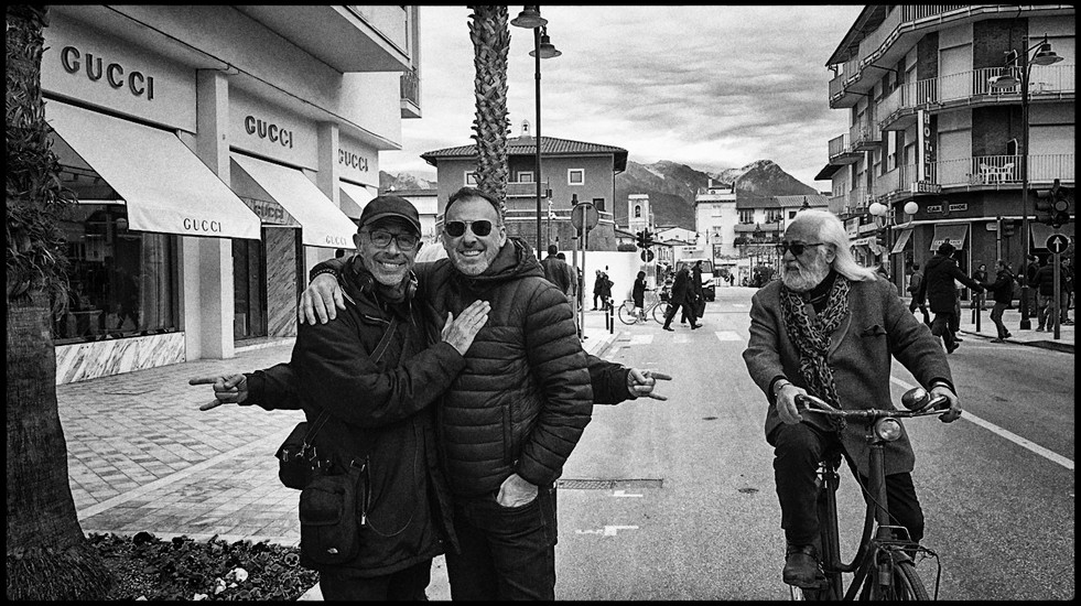 Peter Chelsom and cinematographer, Mauro Fiore.