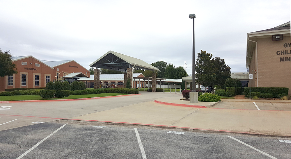 Worship Center (left) South Building (right)
