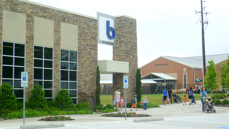 Blue Student Ministry building