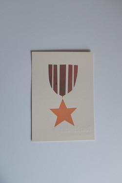 screenprinted medal postcard set