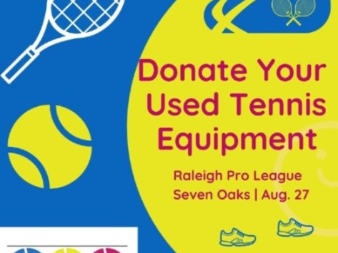 Donate Your Used Tennis Equipment