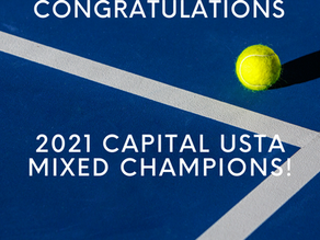 Congratulations to our 2021 Capital USTA Mixed Champions!