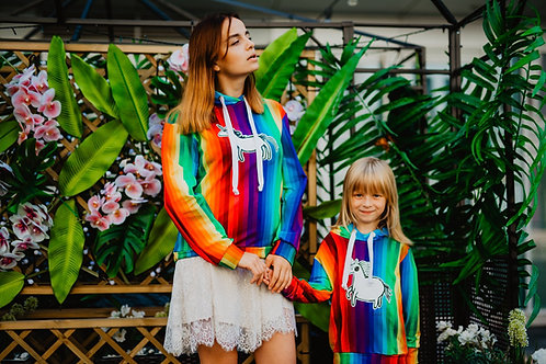 Over the rainbow- power of unicorns hoodies