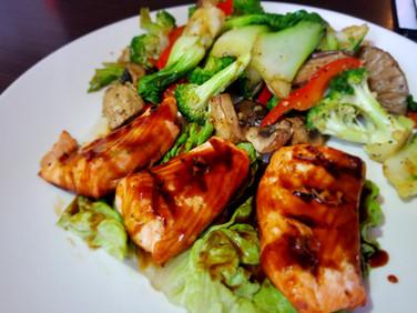 Salmon Teriyaki Dinner Entrées