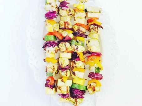Rainbow Chicken Kebabs
